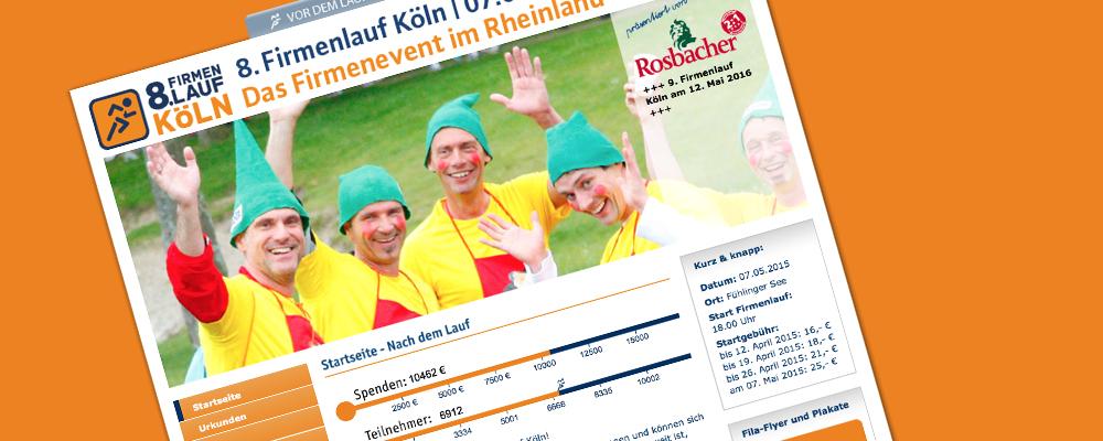 Firmenlauf Köln mit neuer Webseite
